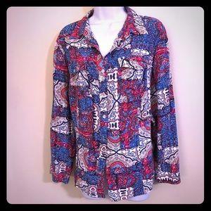 Paisley button down blouse